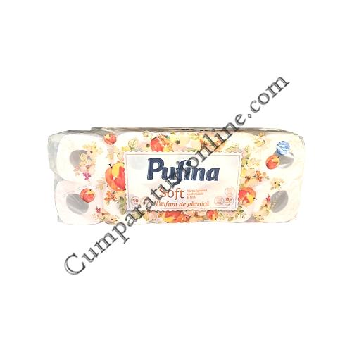 Hartie igienica Soft Parfum de Piersica Pufina 2 str. 10 role