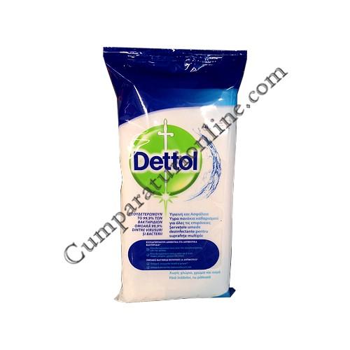 Servetele umede dezinfectante suprafete multiple Dettol 40 buc. Cleanser