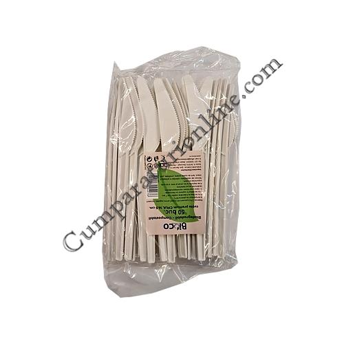 Cutite biodegradabile premium CPLA 16,5 cm Bioco 50 buc.