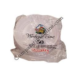 Farfurii albe plate desert 17 cm Aristea 50 buc. pret/buc.