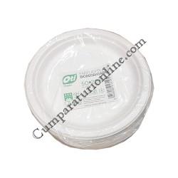 Farfurii plate biodegradabile Oti 22,5 cm 50 buc.