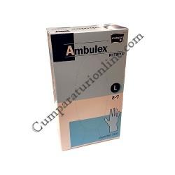 Manusi nitril albastre Ambulex marime L 100 buc.