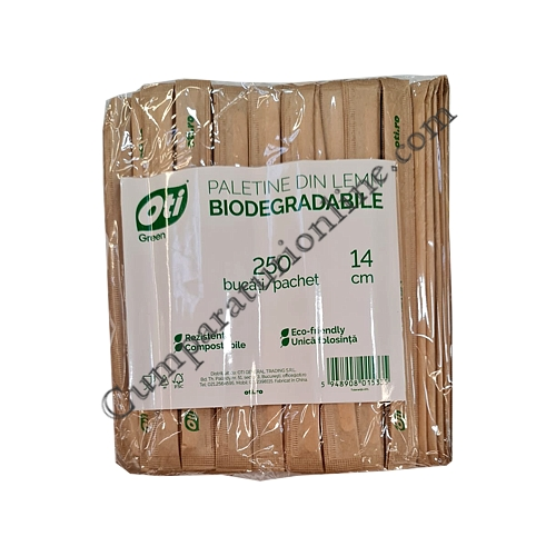 Paletine lemn Oti 14 cm. 250 buc./set