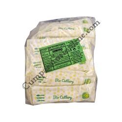 Set furculita cutit lingura servetel biodegradabile CPLA 50 buc.