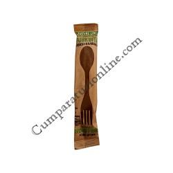 Set tacamuri Combo Premium lingura - furculita lemn Nature Line