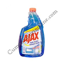 Detergent lichid geamuri Ajax Triple Action 750 ml. rezerva