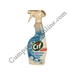 Detergent lichid geamuri si sticla Cif Ocean pulverizator 750 ml.