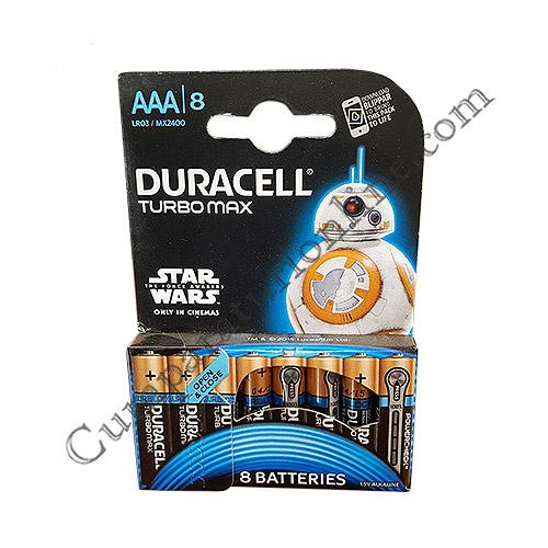 Baterii alkaline Duracell Turbo Max LR3 AAA 8 buc./set pret/buc.
