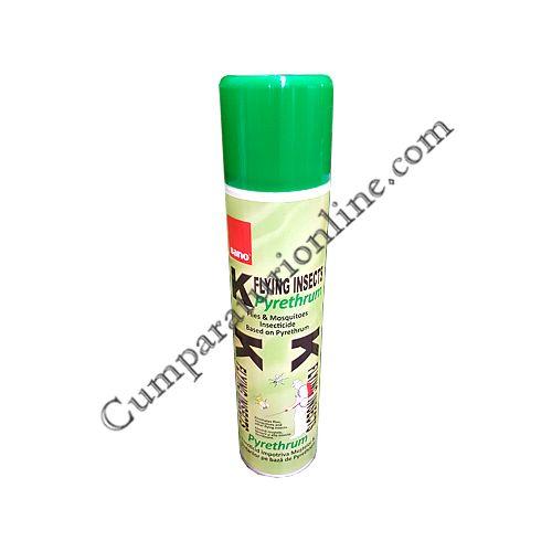 Insecticid cu Pyrethrum Sano K muste si tantari 400 ml.