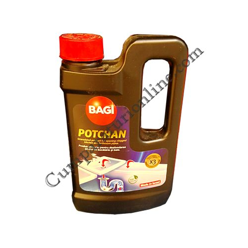 Granule pentru desfundat tevi Potchan Bagi 600 gr.