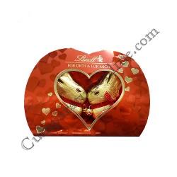 Figurine iepurasi de ciocolata inima Lindt 100 gr.